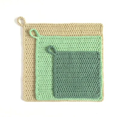 Simple Washcloth in 3 Sizes