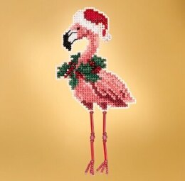 Mill Hill Winter Holiday - Holiday Flamingo Seasonal Ornament - 2.25inx5in