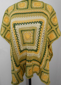 Rolling Stone Poncho in Tahki Yarns Cotton Classic Lite