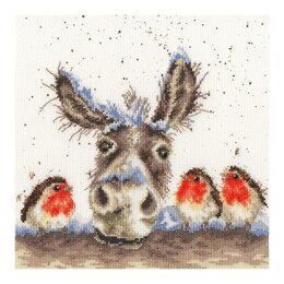 Bothy Threads Christmas Donkey, Hannah Dale Cross Stitch Kit - 26 x 26cm