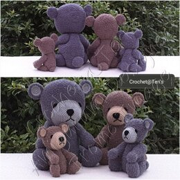 Burn Family Traditional Jointed Bears