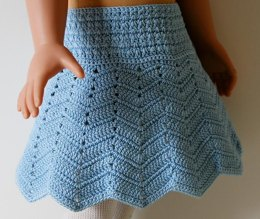 "Chevron skirt for 18"" dolls"