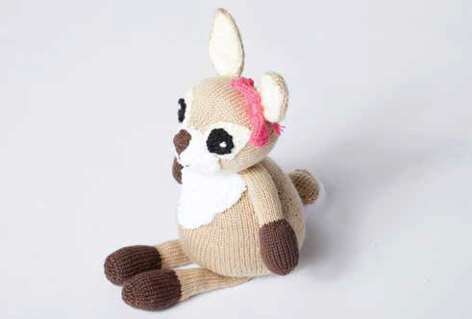 Dotty the Fawn Toy in Caron Simply Soft and Bernat Pipsqueak - Downloadable PDF