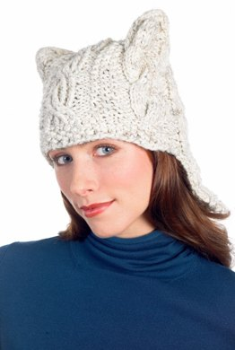 32b9994166e Quick Cabled Hat in Lion Brand Wool-Ease Chunky - 50607. Free. Free pattern