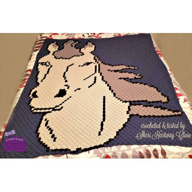 Horse 4 Color Afghan