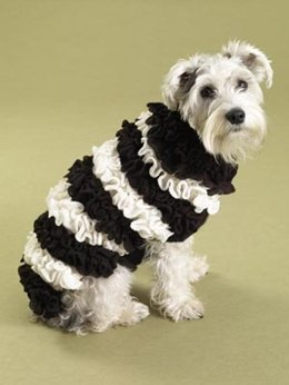 Ruffrageous Dog Sweater in Lion Brand Wool-Ease - 60476