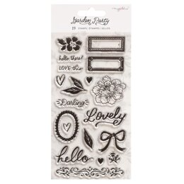 American Crafts Maggie Holmes - Garden Party Clear Stamp Set