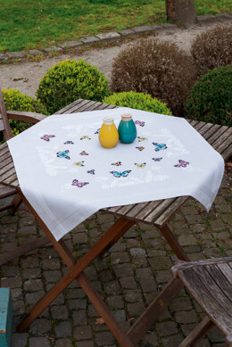 Vervaco Embroidery Kit - Butterfly Dance - Tablecloth
