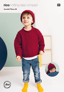 Sweater and Hat  in Rico Essentials Merino DK - 800 - Downloadable PDF