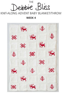 """Knit-Along Advent Baby Blanket Week 4"" -Along Advent Baby Blanket Week 4 - Blanket Knitting Pattern For Babies in Debbie Bliss Mia"