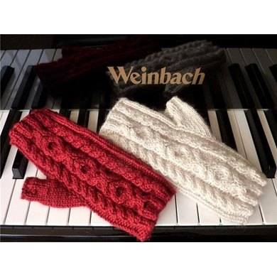 Hugs and Kisses OXO Cable Fingerless Mitts