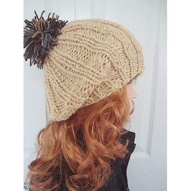 426 MAUREEN RIB KNIT BERET TAM, age 8 to adult