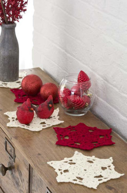 Big Snowflake Doilies in Red Heart US - LW3170 - Downloadable PDF