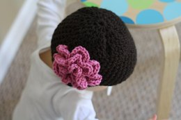 Baby Hat with Accent Flower