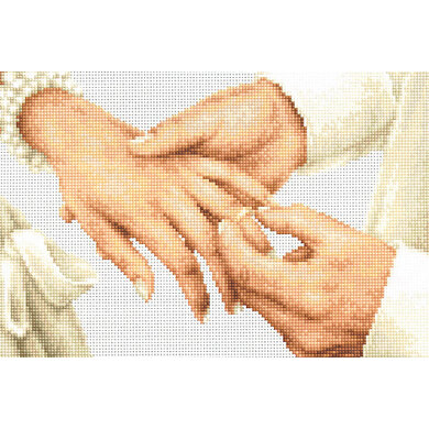 Luca-S Forever Wedding Ring Cross Stitch Kit