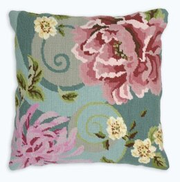 Anchor Floral Swirl in Green Tapestry Kit - 40 x 40 cm