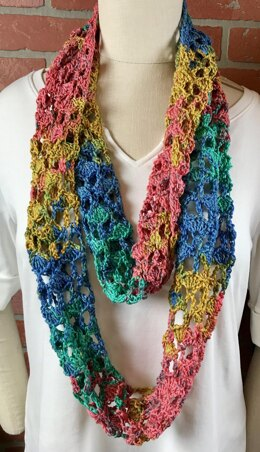EASY Summer Shell Trellis Scarf