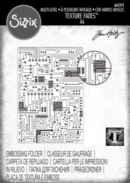 Sizzix Textured Impressions Multi-Level Embossing Folder - Circuit by Tim Holtz