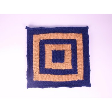 Textured log cabin square