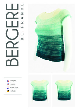 Top Down Tunic in Bergere de France Unic - Downloadable PDF