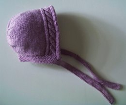 Cable Baby Bonnet