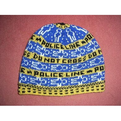 Crime scene long beanie