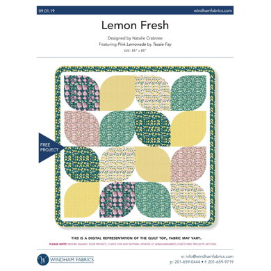 Windham Fabrics Lemon Fresh - Downloadable PDF