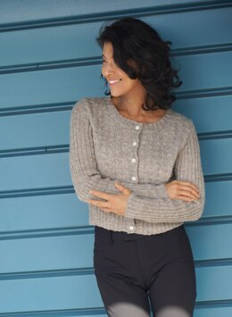 Gullwing Cropped Cardigan in Cascade Yarns Eco+ Hemp - DK647 - Downloadable PDF