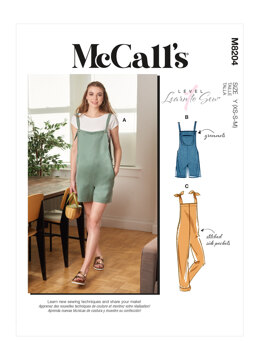 McCall's Misses' Overalls M8204 - Sewing Pattern