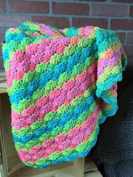 EASY BEGINNER'S Shell Blanket