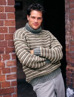 Rugged Turtleneck in Patons Classic Wool Worsted