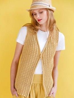 Gold Digger Vest in Tahki Yarns Cotton Classic