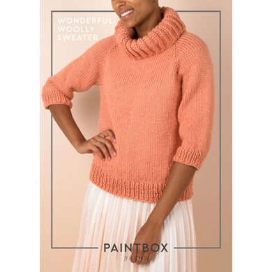 Wonderful Woolly Jumper : Jumper Knitting Pattern for Women in Paintbox Yarns Bulky | Chunky Yarn
