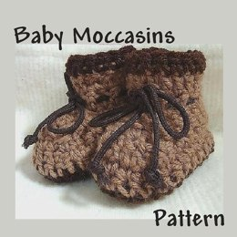 Baby Moccasins Booties | Crochet Pattern by Ashton11