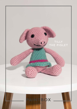Tilly the Piglet in Paintbox Yarns Simply DK - 010 - Downloadable PDF