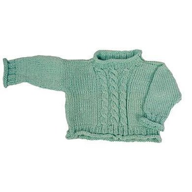 Easy Cabled Baby Pullover - Straight Needle Version