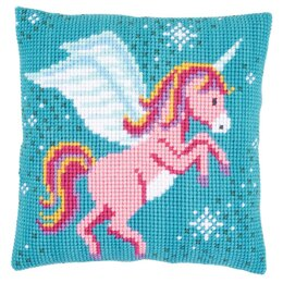 Vervaco Unicorn Cushion Cross Stitch Kit