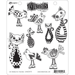 """Ranger Dyan Reaveley's Dylusions Cling Stamp Collections 8.5""""X7"""" - Cat Among Pigeons"""
