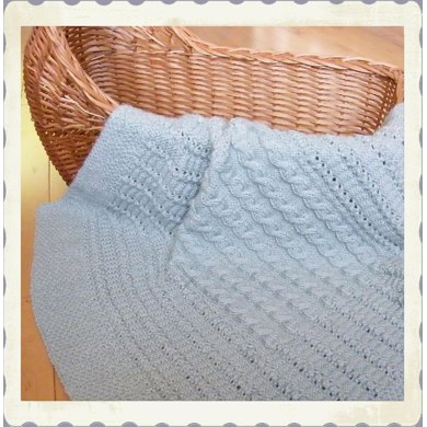 Celtic child: forest paths baby blanket