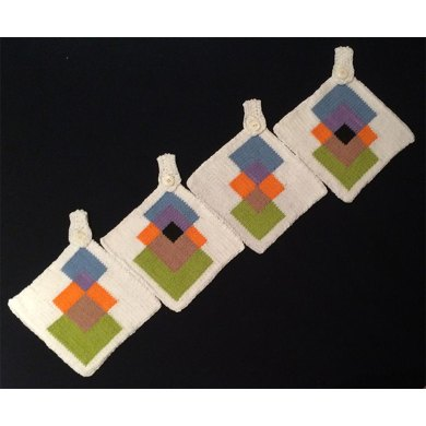 KGeometry: Four Pot Holders with Squares
