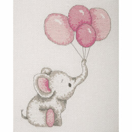 Anchor Girl Balloons Cross Stitch Kit - Multi