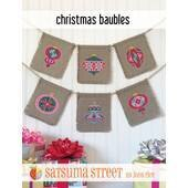Satsuma Street Christmas Baubles Cross Stitch Chart -  Leaflet