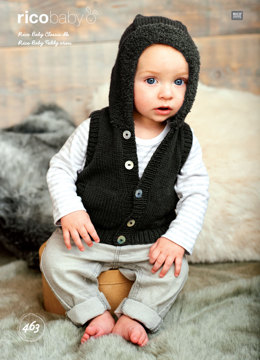 Jacket and Gilet in Rico Baby Classic DK and Teddy Aran - 463 - Downloadable PDF