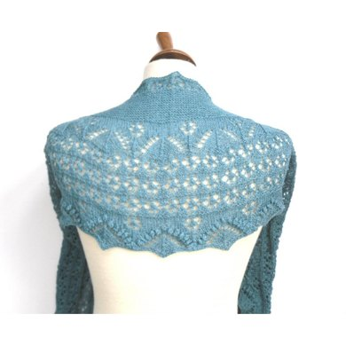 Flower Row Crescent Shawl Knitting Pattern By The Feminine Touch Designs