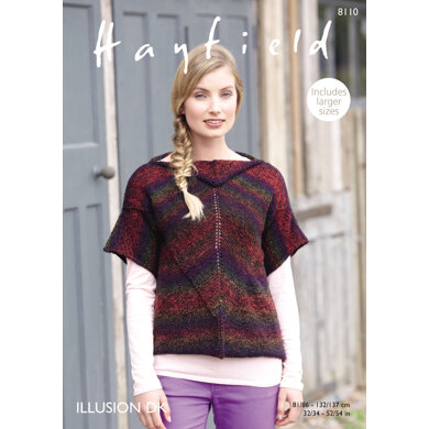 Top in Hayfield Illusion DK - 8110 - Downloadable PDF