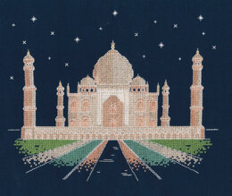 DMC Agra by Night 14 Count Cross Stitch Kit - 24.5cm x 1cm x 17cm