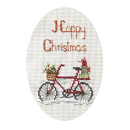 Derwentwater Designs Christmas Delivery Cross Stitch Card Kit - 9cm x 13.3cm