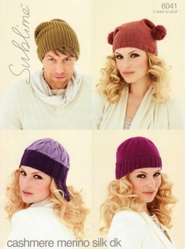 Hats in Sublime Cashmere Merino Silk DK - 6041