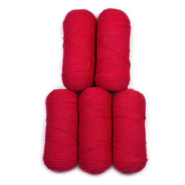 Red Heart Super Saver Economy Solids 5 Ball Value Pack