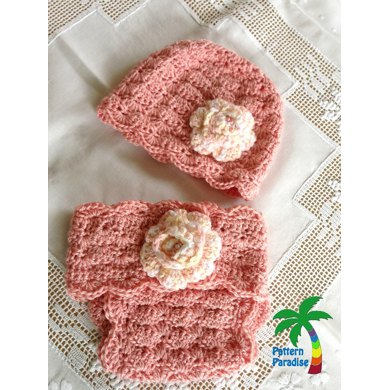 Shelly Diaper Cover & Hat PDF12-106